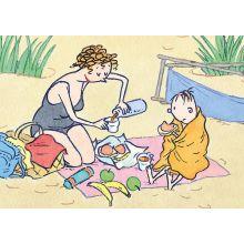 Nisse på stranden