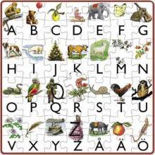 Mitt första alfabetspussel Bes