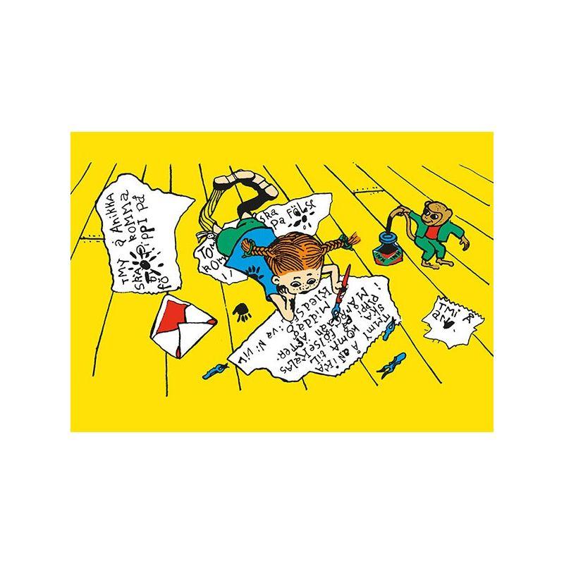 Pippi Långstrump, skriver