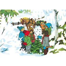 Jul i Bullerbyn, hämtar gran