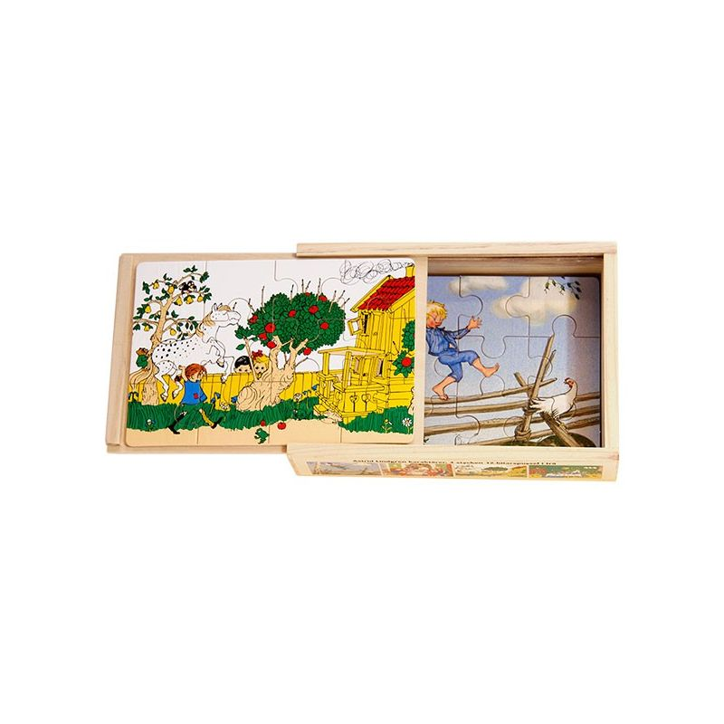 Astrid Lindgren 4 x träpussel