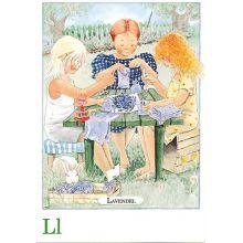 Lavendel, Majas alfabet