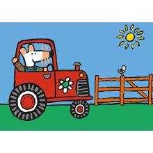 Molly kör traktor