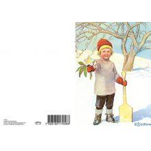 Julrosor - dubbelkort