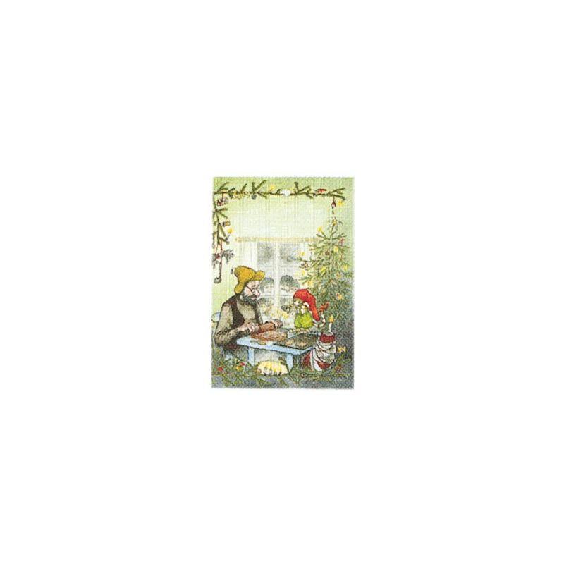 Pettson julbesök minikort