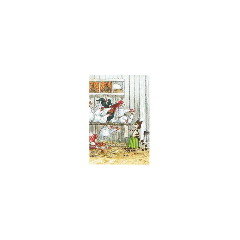 Findus i hönsgården minikort