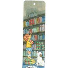 På biblioteket  bokmärke
