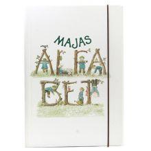 Majas alfabetstavlor i mapp