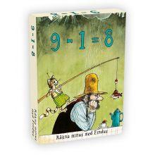 Findus 9 minus 1 är lika med 8 (minus)