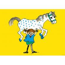 Pippi med häst affisch