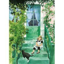 Linnea på trappan affisch