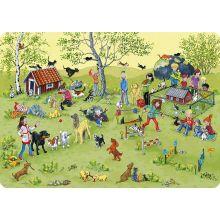 Djur och lek underlägg