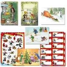 Julpåse med vykort, stickers och adresslappar 2018