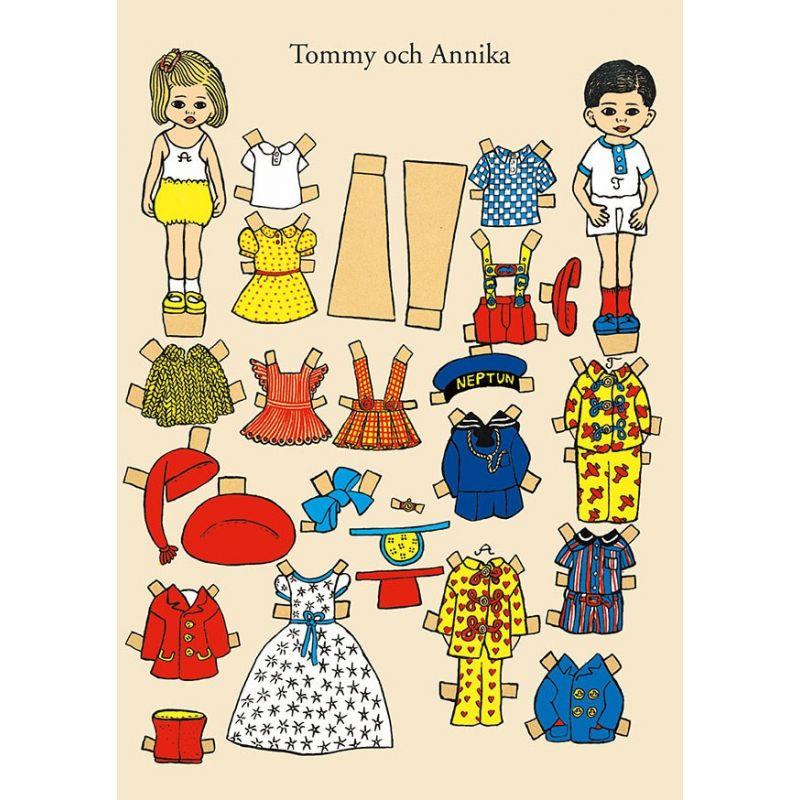Tommy och Annika klippdockor A