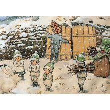 Tomtebobarnen vinter