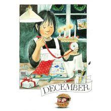 December Linneas månadskort
