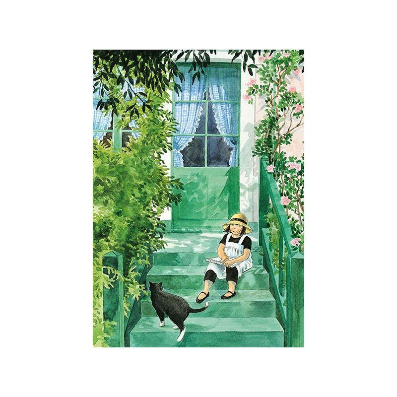 Linnea på trappen